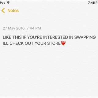 Like If Interested In Swapping