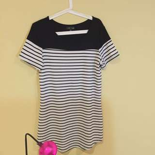CKM Stripe Dress Size 12