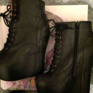 Jeffrey Campbell Genuine Leather Damsel Boots