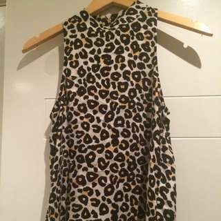 Mink Pink High Neck Top Size Extra Small