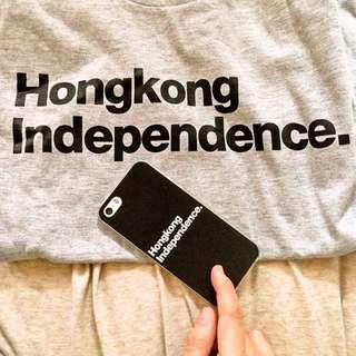 Little in a door 系列: Hong Kong independence 浮雕黑色手機殼