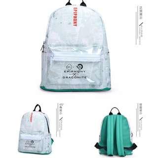 【預購】韓版學院風森林系小清新PU防水後背包