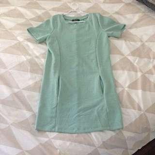 Shift Dress Mint Green