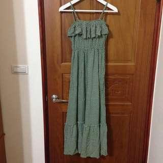 渡假風棉麻荷葉洋裝