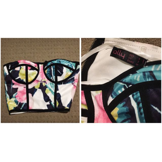 $5 ALLY Cropped Bustier Top