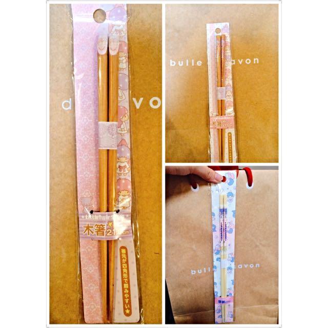 三麗鷗系列天然木筷組