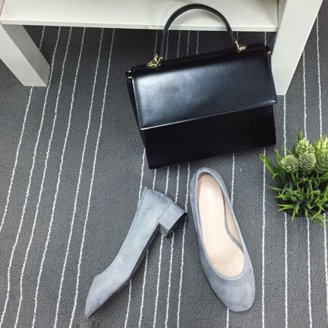 灰色低根鞋