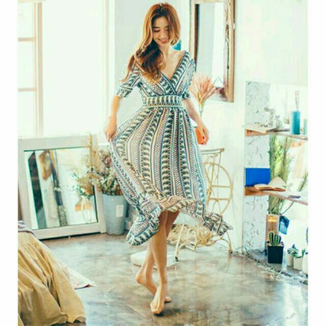 民族風 圖騰洋裝