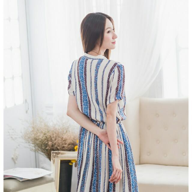 韓流 民族風 開叉長裙