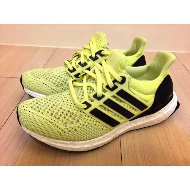 Adidas Ultra Boost W 編織 螢光黃 愛迪達 頂級慢跑鞋 S77512 女鞋 2016 3 月