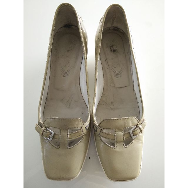 Authentic TODS Powder Grey Rubber Wedges Shoes Heels US 6.5