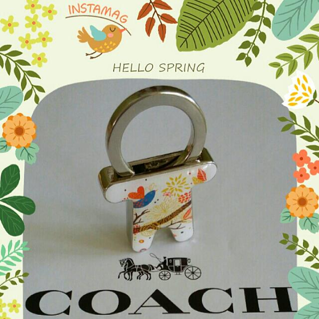 全新COACH可愛人形花卉圖騰小巧鑰匙圈