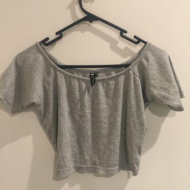 Cotton On Grey Crop