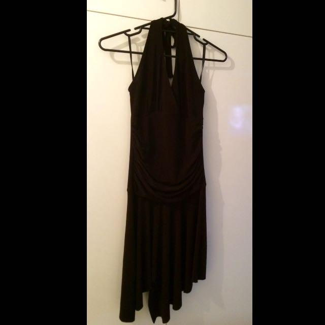 Dark Brown Halter neck Dress