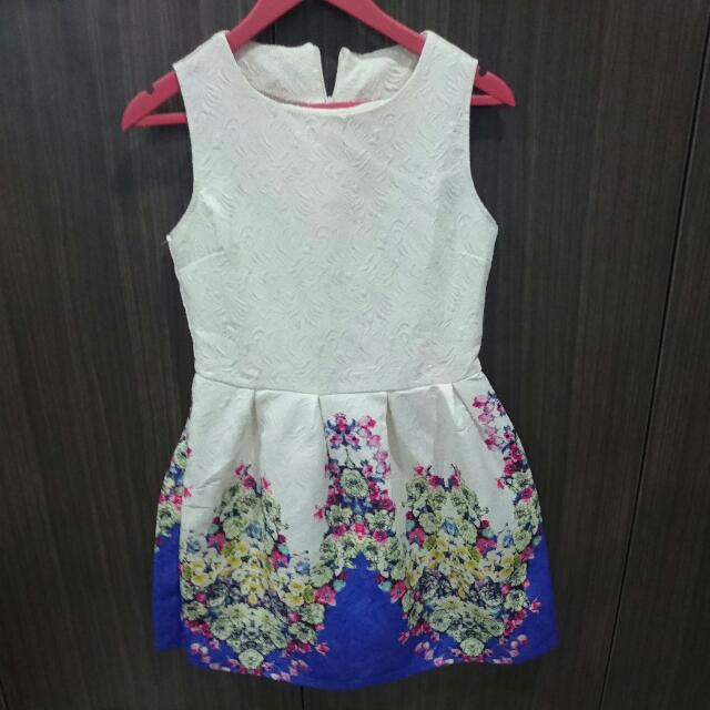 Dress Putih Party Floral