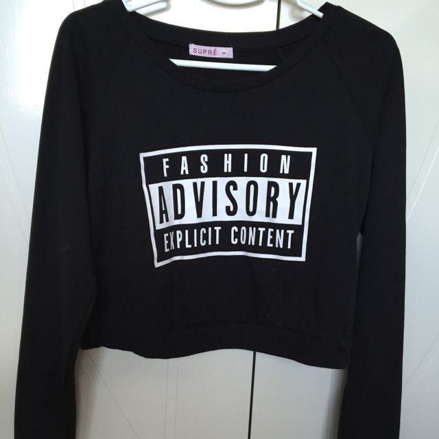 FASHION ADVISORY EXPLICIT CONTENT Jumper