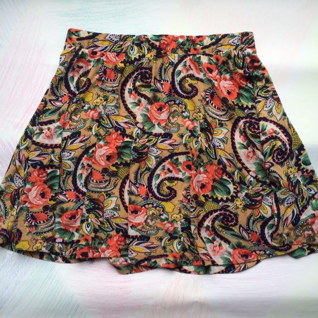 Forever 21 Patterned Skirt