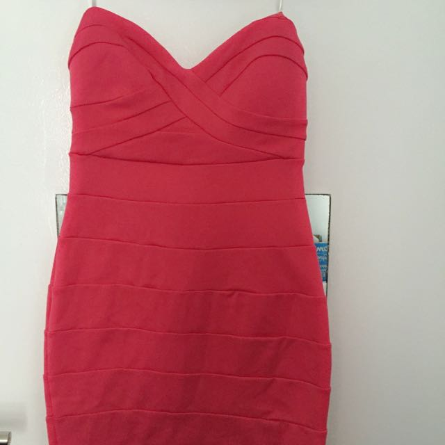 Forever New Hot Pink Sexy Dress Size 6