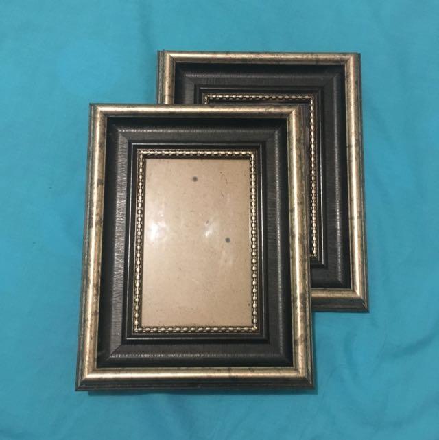 Gold/wood classic photo frames