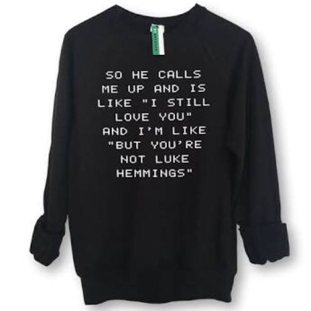 GREY Luke Hemmings Sweatshirt