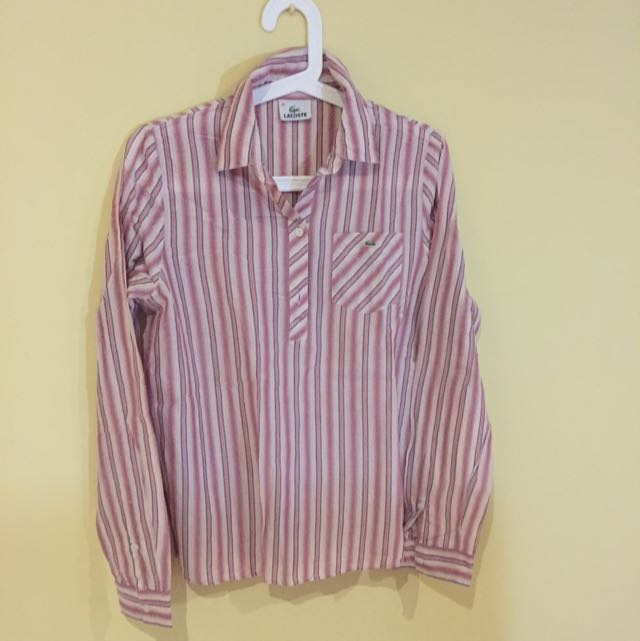 Lacoste Pink Shirt