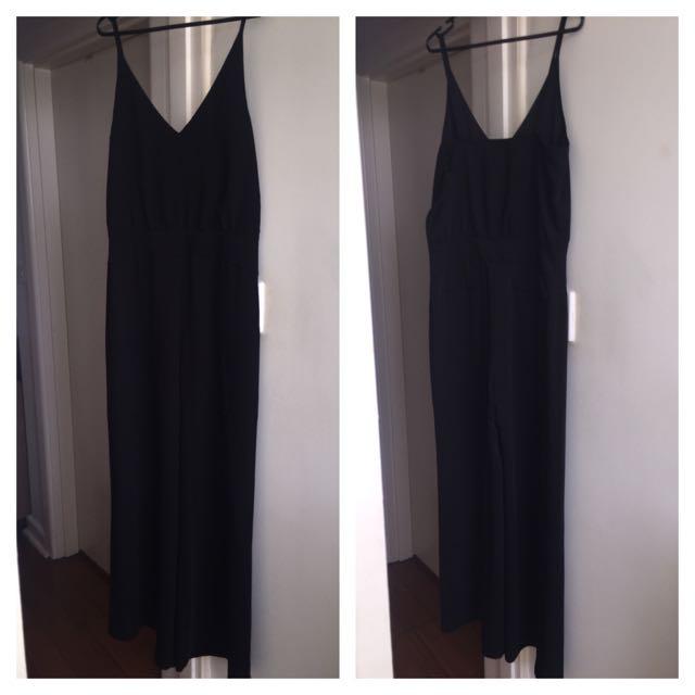 Long Black Jumpsuit CUE 10 Broken Zip