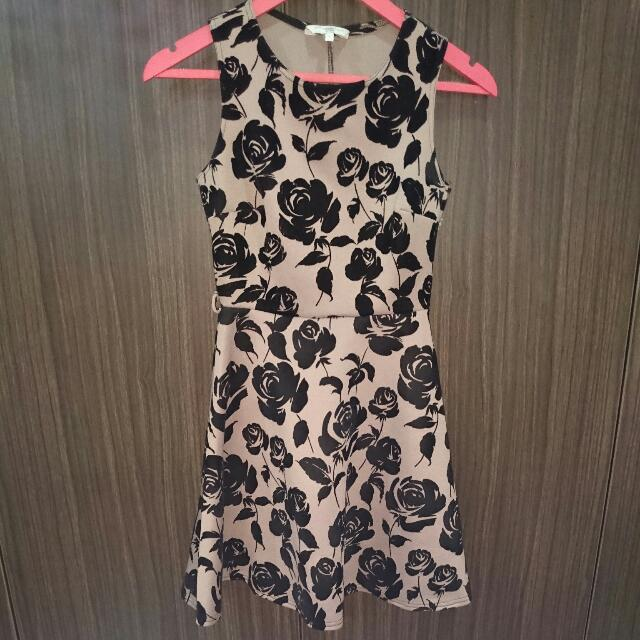 New Look Pink Black Dress