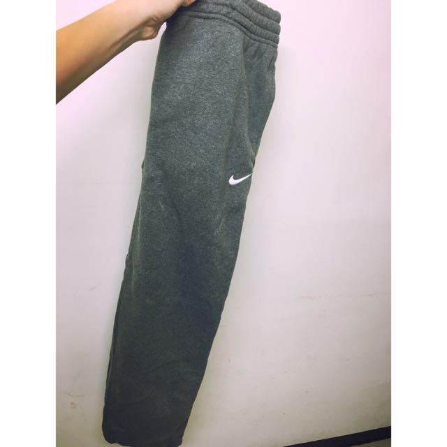 Nike灰色鋪棉長褲(厚)