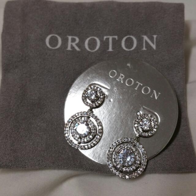 Oroton Crystal Drop Earrings