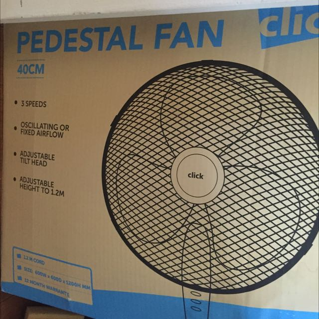 Pedestal Fan New In Box Black
