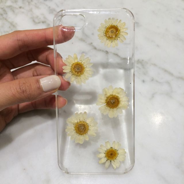 Pressed Real Flower Phone Case For Iphone 5 5S