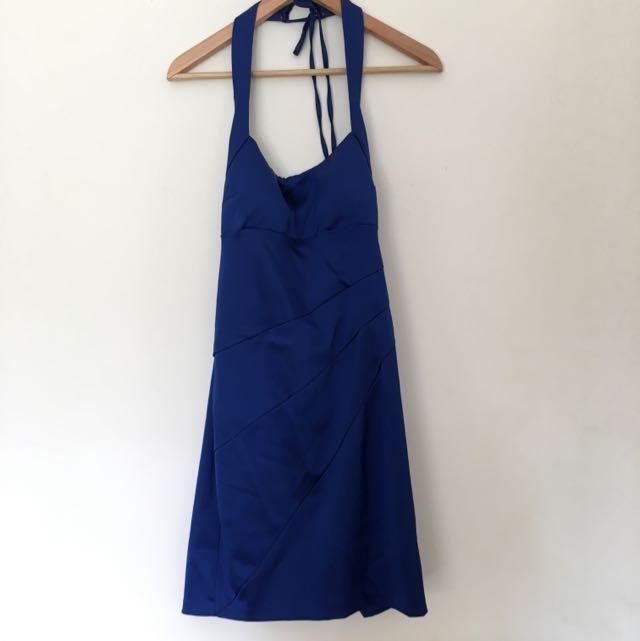 Royal Blue Satin Formal Dress