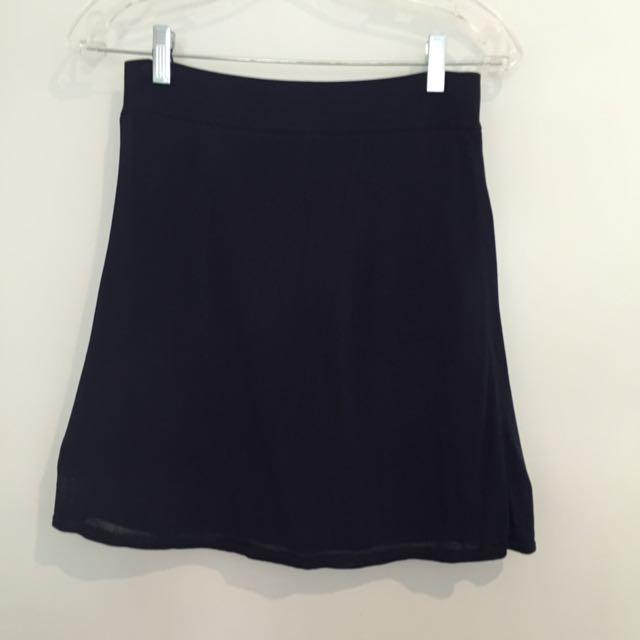 T By Alexander Wang Navy Skirt