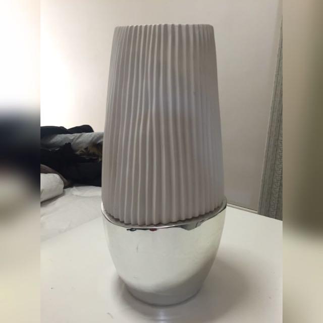 Vase Home Decor Large White Silver Mirror