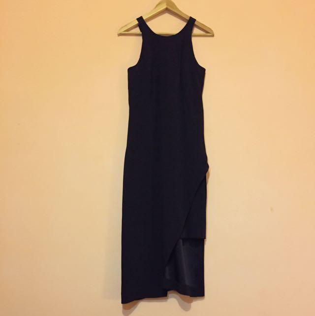 Veronika Maine Navy Dress - Size 6