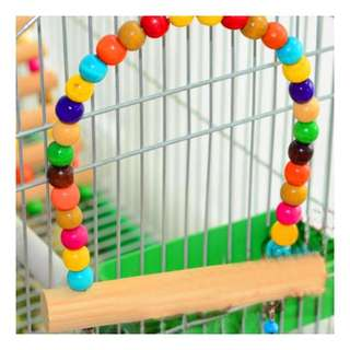 Bird Cage Accessories: Colourful Swing