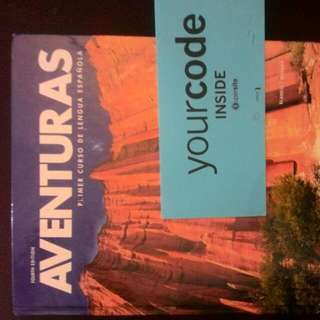 """4th Addition """"Aventuras"""" Spanish 2 Course Book With Online Site Password."""
