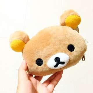 全新正版 拉拉熊 零錢包 立體耳朵 絨毛 小包