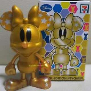 Golden Minnie Mouse Keychain Limited Edition