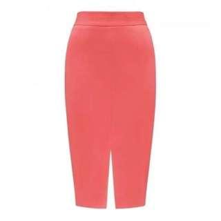 Forever New Coral Tube Skirt