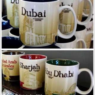 杜拜 阿拉伯聯合大公國 星巴克 城市杯 馬克杯
