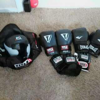 Title gear - boxing gloves headgear MMA