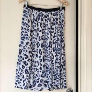 Bardot Animal Print 3/4 Skirt