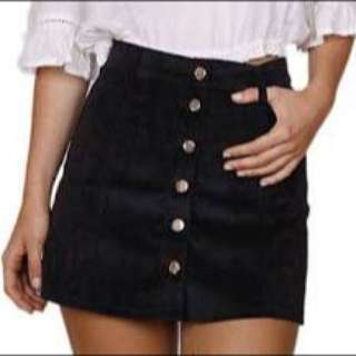 Size 6 Black Button Up Skirt