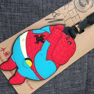 Fat Spider-Man Luggage Tag