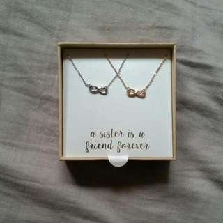 Infinity Sister/bff Charm Necklace