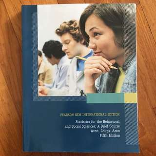 statistics for the Behavioural and social sciences textbook