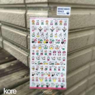 🚚 Mind Wave 平貼紙包 -  [77805 ]貓咪日常-1包56元