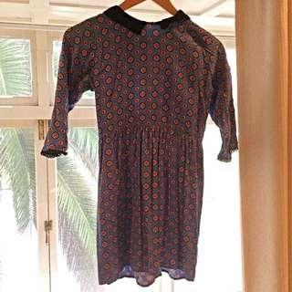 Size 6 Mod Patterned Mini Dress - Motel Rocks