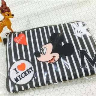 🚚 迪士尼 牛仔尼龍系列收納包 零錢包/票卡夾/悠遊卡包/鈔票包/卡片包//米奇米